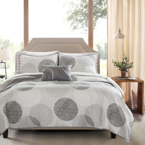 Knowles Complete Reversible Coverlet and Cotton Sheet Set - Queen