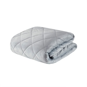 Luxury Quilted Mink Weighted Blanket - Grey