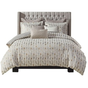 Sanctuary Queen Comforter Set - Taupe/Gold