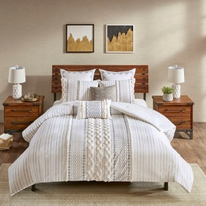 Imani Cotton Comforter Mini Set - King/Cal King Ivory