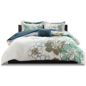 Allison Full/Queen Comforter Set - Blue/Grey