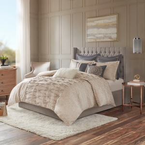Allure King Comforter Set in Blush