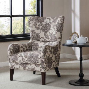 Arianna Swoop Wing Chair - Multi
