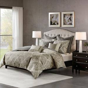 Plateau Jacquard King Comforter Set
