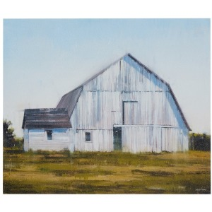 Old White Barn Gel Coat Canvas