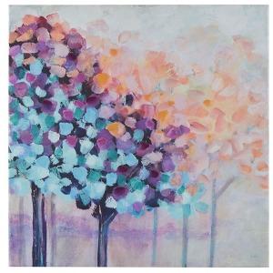 Magic Forest 30% Hand Brush Embellished Canvas