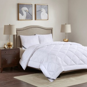 525 Thread Count All Season Cotton Rich Down Alternative Comforter - Full/Queen - White