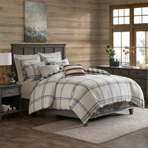 Willow Oak King Reversible Cotton Comforter Set