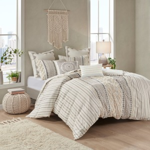 Imani Cotton Comforter Mini Set - Full/Queen Ivory