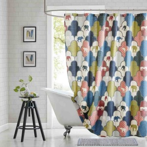Emma Cotton Printed Shower Curtain