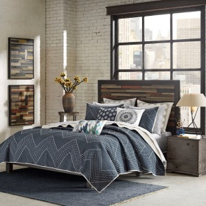 Pomona 3 Piece Coverlet Mini Set - Full/Queen - Navy