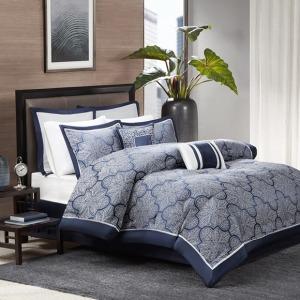Medina 8 Piece Jacquard Comforter Set