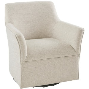 Augustine Swivel Glider Chair - Taupe Multi