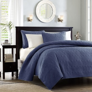 Quebec Reversible Coverlet Set - Twin/Twin XL - Navy