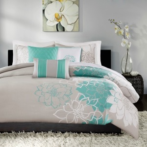 Lola 6 Piece Printed Duvet Cover Set - King/Cal King