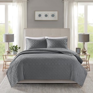 Linnette 3 Piece Reversible Coverlet Set - King/Cal King