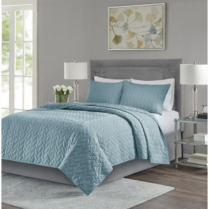 Noel 3 Piece Reversible Coverlet Set - Full/Queen - Teal