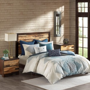 Nova 3 Piece Full/Queen Comforter Mini Set - Blue