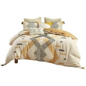 Arizona 3 Piece Cotton Comforter Set - King/Cal King Yellow