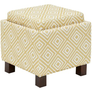 Shelley Square Storage Ottoman w/Pillows