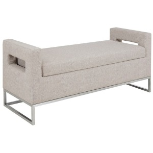 Crawford Storage Bench - Grey