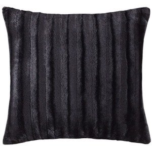 Duke Faux Fur Square Pillow - Black