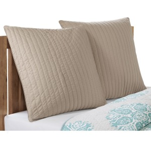 Camila Quilted Euro Sham - Taupe