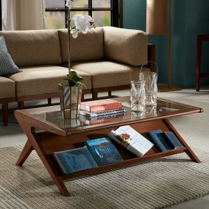Rocket Coffee Table with Tempered Glass