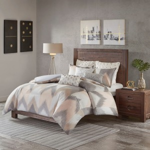 Alpine Cotton King/Cal King Comforter Mini Set - Blush