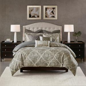 Plateau Jacquard Queen Comforter Set