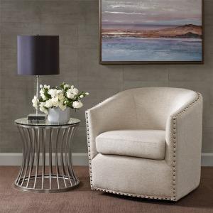 Tyler Swivel Chair - Natural Multi