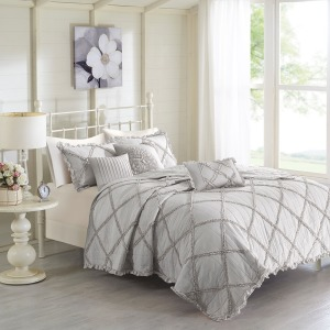 Rosie 5 Piece Reversible Coverlet Set -Full/Queen