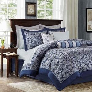 Aubrey 12 Piece Complete Bed Set -Queen