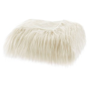 Edina Faux Fur Throw - Ivory