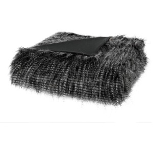 Edina Faux Fur Throw - Black