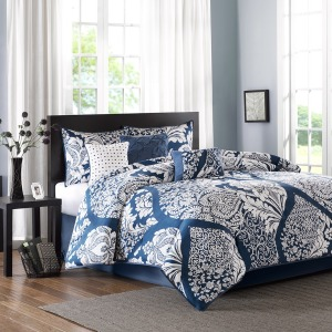 Vienna 7 Piece Cotton Printed Comforter Set -King