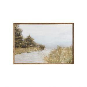 Lake Walk Framed Gel Coated Canvas