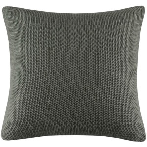 Bree Knit Euro Pillow Cover - Charcoal