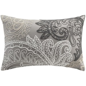 Kiran Cotton Oblong Pillow With Chain Stitch