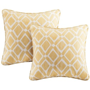 Delray Diamond Printed Square Pillow Pair