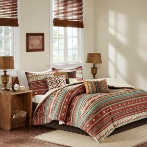Taos 7 Piece King Comforter Set - Spice