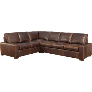 Max 3 Deluxe 2 PC Leather Sectional