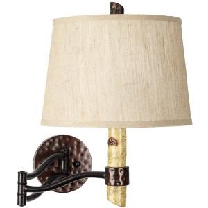 Birch Tree Swing Arm Wall Lamp
