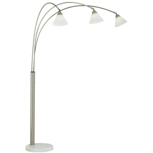Archway Floor Lamp- Brushed Steel
