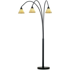 Archway Floor Lamp- Bronze W/ Tiffany Shade