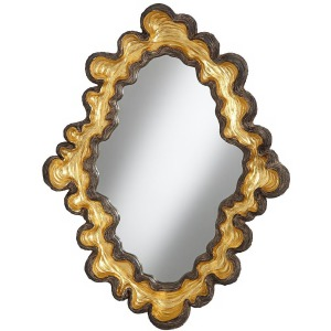 Retro Oyster Mirror - Large