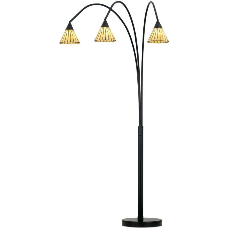 Archway Floor Lamp- Bronze W/ Tiffany Shade