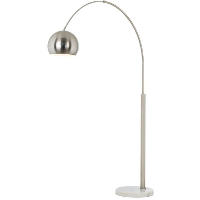 Basque Floor Arc Lamp- Nickel