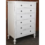 Wllington TallBoy 6 drawer Chest w/turned Legs