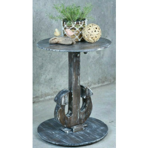 Anchor End Table - White Brush